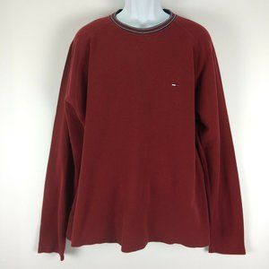 Vintage Tommy Hilfiger Jeans Red XXL Shirt Thermal